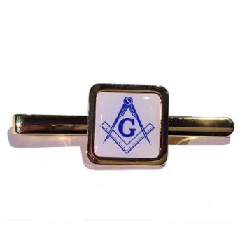 Tie Slide Blank 16mm Square Gold and print dome